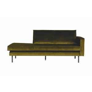 BePureHome Daybed Rodeo Right velvet olive green