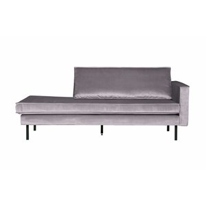 BePureHome Rodeo Daybed Right Velvet Lichtgrijs