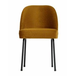 BePureHome Vogue Dining Chair Velvet Mustard