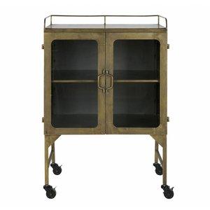 BePureHome Talent Metal Cabinet Antique Brass