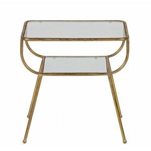 BePureHome Amazing Beistteltisch Metall/glas Antique Brass
