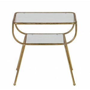 BePureHome Amazing Sidetable Metal/glass Antique Brass