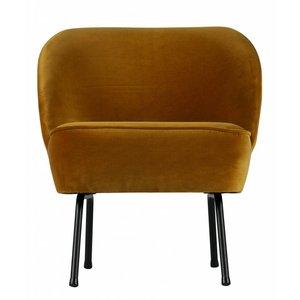 BePureHome Vogue Armchair Velvet Mustard