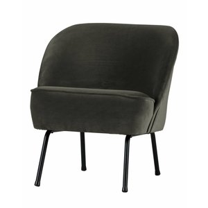 BePureHome Fauteuil Vogue velvet onyx green