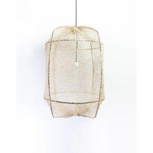 Ay illuminate Hängelampe Z1 schwarzer Rahmen mit Sisal Netz