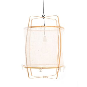 Ay illuminate Hanging lamp Z22 Blonde with silk white cashmere