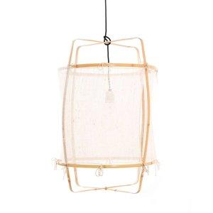 Ay illuminate Hanging lamp Z22 Blonde with silk white cashmere