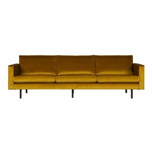 BePureHome Rodeo Bank 3-zits Velvet Oker