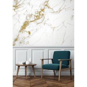 KEK Amsterdam Fotobehang Marble wit-goud
