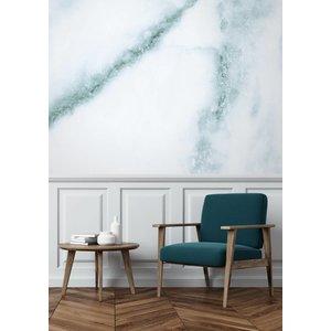 KEK Amsterdam Fotobehang Marble wit-blauw