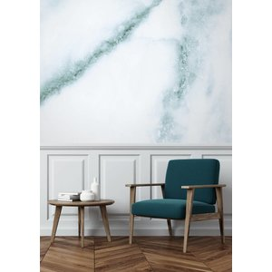 KEK Amsterdam Photo Wallpaper Marble white-green