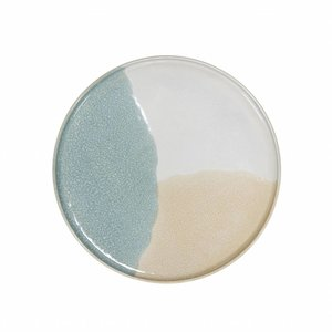 HKliving gallery ceramics: round side plate mint/nude