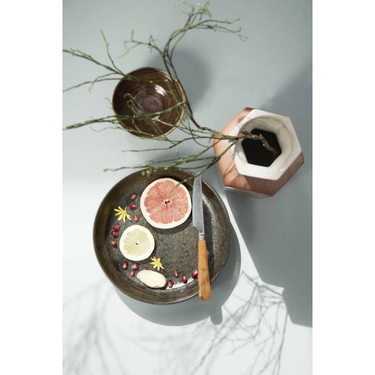 HKliving HKliving Dinerbord Bold & Basic keramiek terra Ø28,5cm