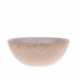 HKliving Kom egg shell Bold & Basic keramiek Ø16,5cm