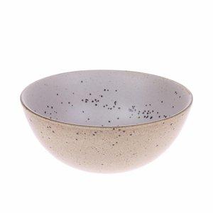 HKliving HKliving Kom egg shell Bold & Basic keramiek Ø16,5cm