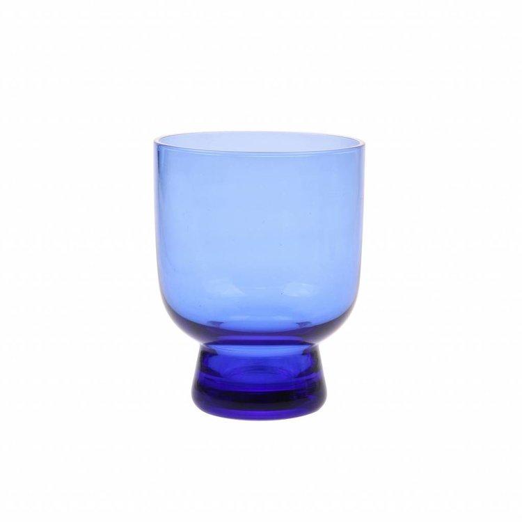HKliving HKLiving Drinkglas kobalt M gegraveerd