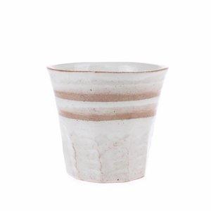 HKliving Becher Bold & Basic Keramik Weiss/Terra