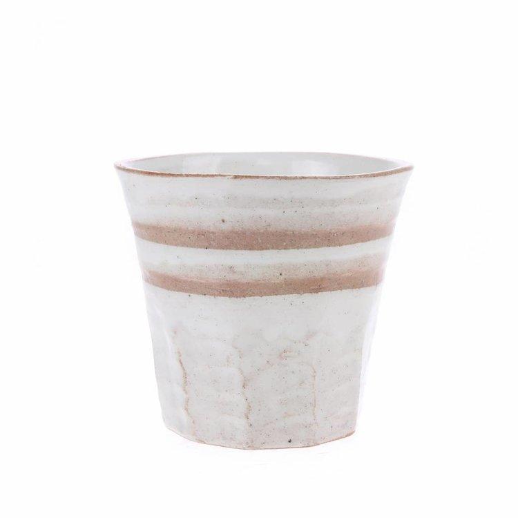 HKliving HKliving Becher Bold & Basic Keramik Weiss/Terra