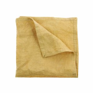HKliving Napkin Linen yellow Set of 2