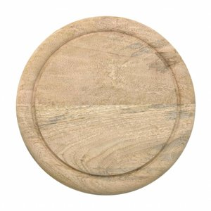 HKliving Plate Wood Mango
