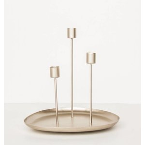 Urban Nature Culture Amsterdam Candle holder 3 candles metal gold