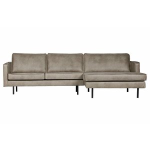 BePureHome Rodeo Chaise Longue Rechts Elephant Skin