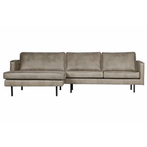 BePureHome Rodeo Chaise Longue Left Elephant Skin