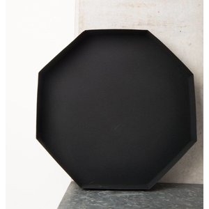 Urban Nature Culture Amsterdam Tablett grain Metal Schwarz