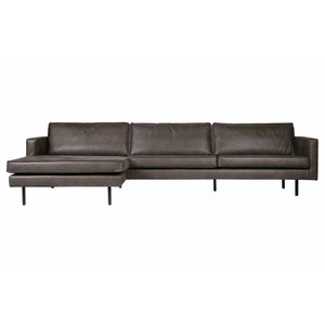 BePureHome Rodeo Chaise Longue Left Black