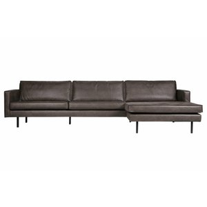 BePureHome Rodeo Chaise Longue Right Black