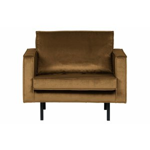BePureHome Rodeo Armchair Velvet Honey Yellow