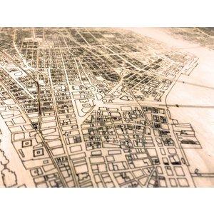 BRANDTHOUT. BRANDTHOUT. Wandbild Stadtplan New York | Wanddekoration Holz