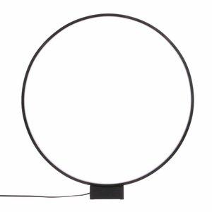 HKliving luminous circle table lamp  black