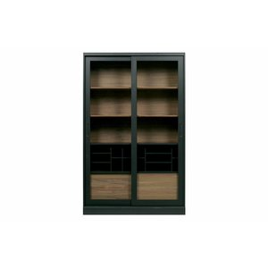WOOOD Display Cabinet James nut black
