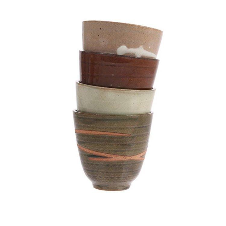 HKliving HKliving Tasse Yunomi Japanisch Keramik satz von 4