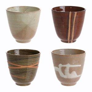 HKliving Tasse Yunomi Japanisch Keramik satz von 4