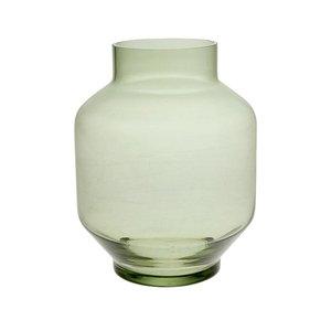 Hkliving Vase Glas L Grün Orangehaus