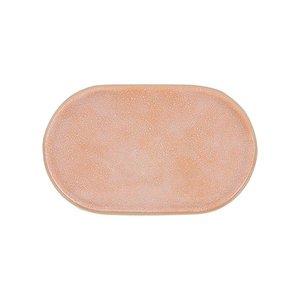 HKliving Breakfast plate 80's gallery ceramic oval peach
