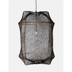 Ay illuminate Hanging lamp Z1 brown with sisal net black