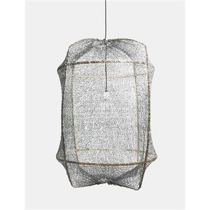 Ay illuminate Hanging lamp Z1 brown with sisal net grey