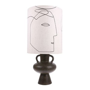 HKliving Lampenschirm Print Gesicht L