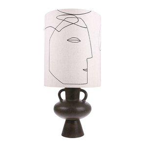 HKliving printed faces lamp shade L