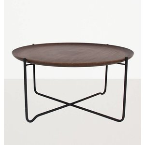 Urban Nature Culture Amsterdam Coffee table with serving tray metal/wood