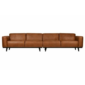 BePureHome Couch Statement XL 4-seater eco leather cognac