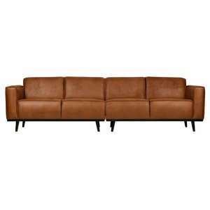 BePureHome Couch Statement 4-seater eco leather cognac