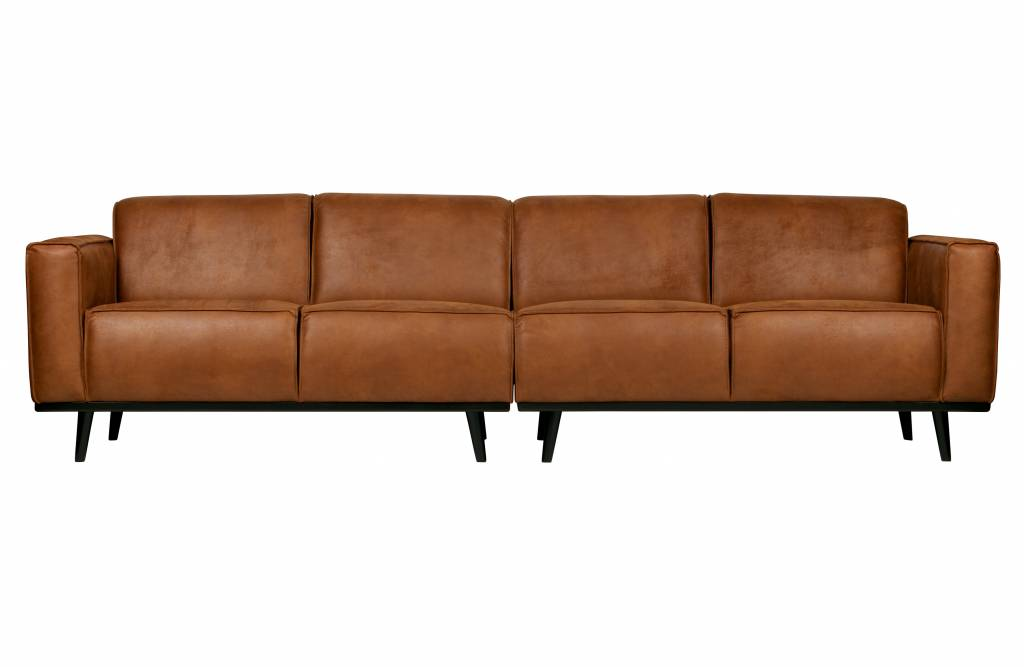Statement 4 Seater Eco Leather Cognac
