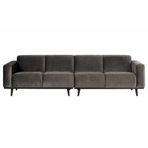 BePureHome Couch Statement 4-seater velvet taupe