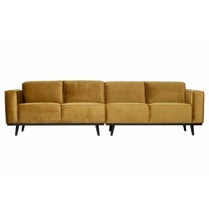 BePureHome Couch Statement 4-seater velvet honey