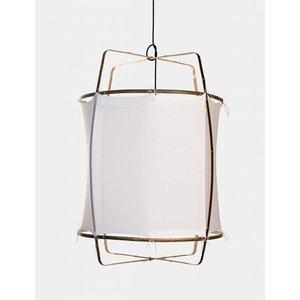 Ay illuminate Hängelampe Z1 schwarz/brauner Rahmen Baumwolle