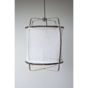Ay illuminate Hanging lamp Z5 black/brown cotton cover